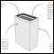 Lixeira Inox Prime Quadrat 7 - 70.229