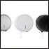 Porta Papel Higiênico Rolão acabamento Inox Escovado - White - Black